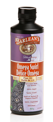 Barleans Blackberry Flax oil omega swirl