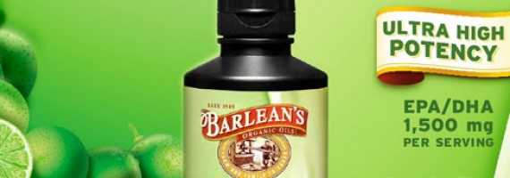 Barlean's Ultra High Potency Omega Swirl has the taste and texture of a Key Lime Pie!