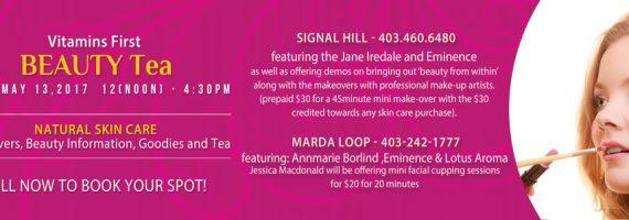 Beauty Event at Signal Hill and Marda Loop - May 13th.