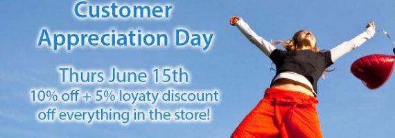 Customer Appreciation Day Thursday June 15, 2017